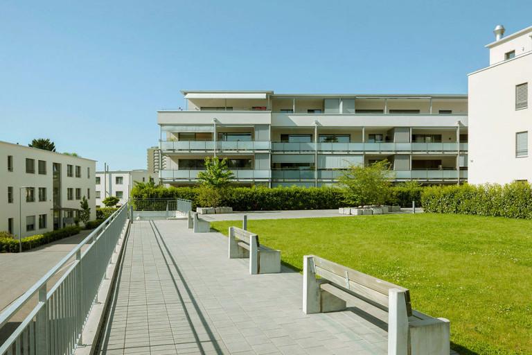 Belp – Baumgarten: Aussenansicht Mietwohnungen, Baumgartenstrasse 13–17, Schützenweg 16 | Zürcher Immobilien, Galli + Siegenthaler Bauplanungen AG