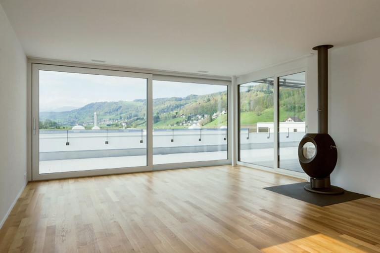 Belp – Würbel: Ansicht Wohnungsbeispiel Mietwohnung Haus B4, Kastanienweg 63 | Zürcher Immobilien, GHZ Architekten AG