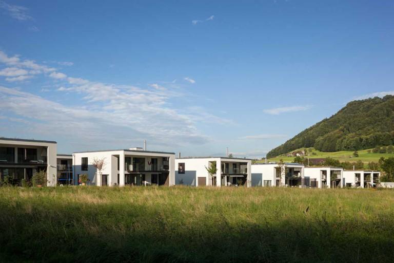 Belp – Würbel: Ansicht Eigentumswohnungen, Kastanienweg 61–97 | Zürcher Immobilien, GHZ Architekten AG