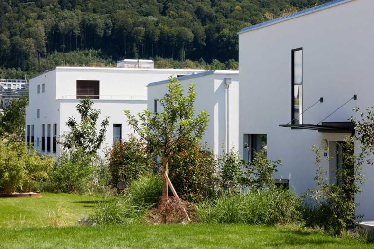 Belp – Würbel: Aussenansicht Miet- und Eigentumswohnungen, Kastanienweg 61–97 | Zürcher Immobilien, GHZ Architekten AG