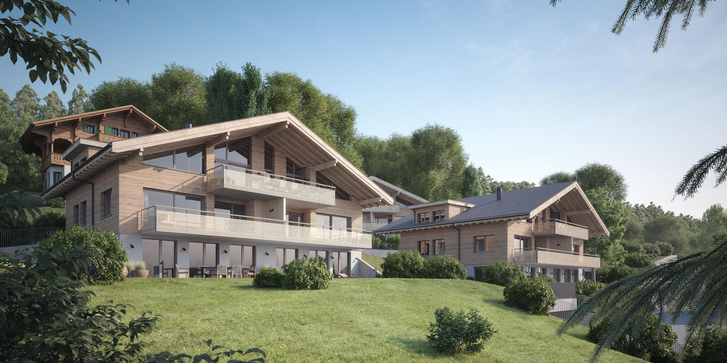 Visualisierung der Chalets Paradiso Oberhofen